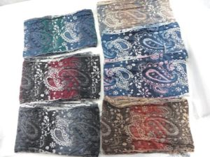 wholesale paisley flower winter thick warm Double layers, 3D, textured, reversible, retro bohemian inspired, soft, thick, long, soft, bouncy and cozy fringed scarves and wraps.