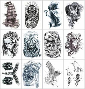 boat eagle black totem large half-sleeve arm tattoo Our warehouse staffs will randomly choose assorted designs shown on the pictures
