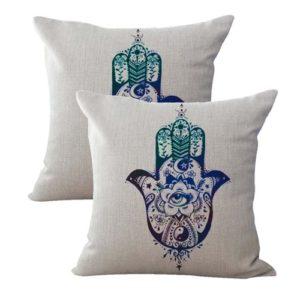set of 2 Hamsa Hand Of Fatima galaxy cushion cover