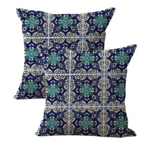 set of 2 talavera art Mexican Spanish cushion cover