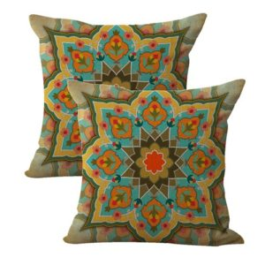 set of 2 boho vintage retro cushion cover
