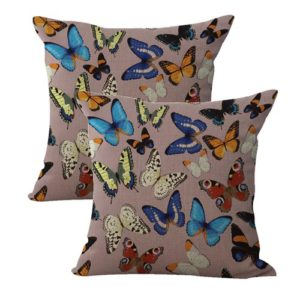set of 2 retro boho butterfly cushion cover