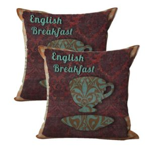 set of 2 shabby chic English breakfast teacup cushion cover