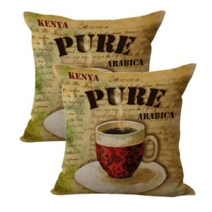 set of 2 kenya pure arabica cushion cover