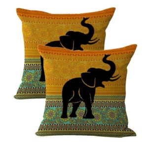 set of 2 lucky Indian elephant cushion cover