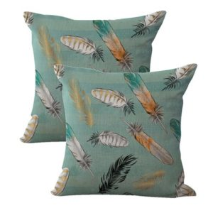 set of 2 native American feather cushion cover