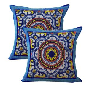 set of 2 talavera Mexican Spanish cushion cover