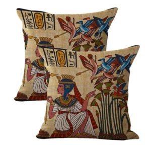 set of 2 Ancient Egyptian art cushion cover