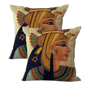 set of 2 Ancient Egyptian Queen Cleopatra cushion cover