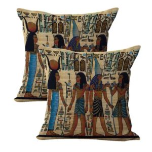 set of 2 Ancient Egyptian cushion cover