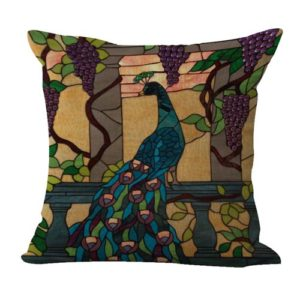 set of 2 peacock cushion cover