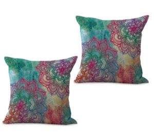 set of 2 bohemian mandala cushion cover