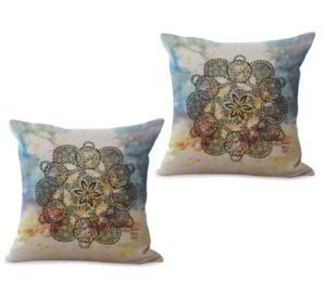 set of 2 perfection eternity mandala cushion cover