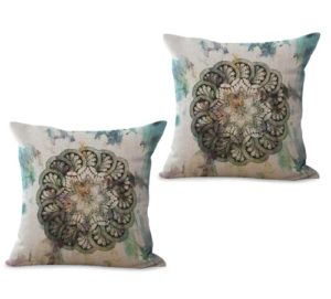 set of 2 bohemian mandala unity harmony cushion cover