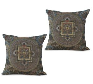 set of 2 perfection eternity mandala cushion cover