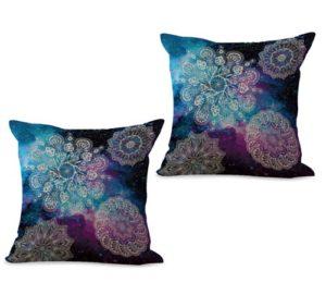 set of 2 unity harmony mandala cushion cover