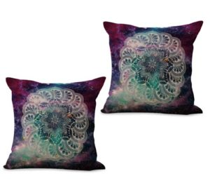 set of 2 symbol infinity life never end mandala cushion cover
