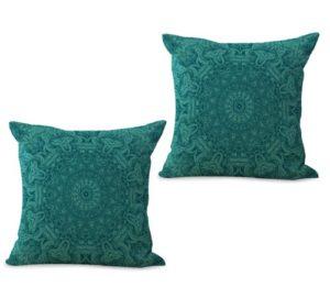 set of 2 bohemian mandala unity harmony cushion cover