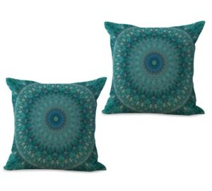 set of 2 unity harmony mandala cushion cover