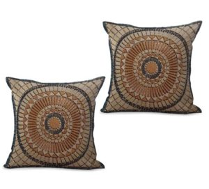 set of 2 spiritual ritual mandala cushion cover
