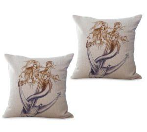 set of 2 mermaid cushion cover