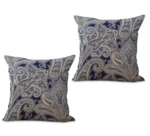 set of 2 vintage floral paisley cushion cover