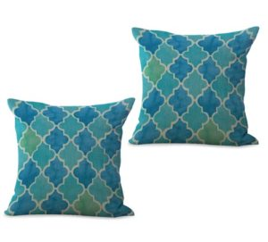 set of 2 moroccan pattern cushion cover