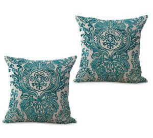 set of 2 retro paisley cushion cover