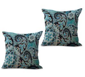 set of 2 retro paisley cushion cover