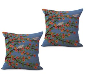set of 2 retro vintage floral cushion cover