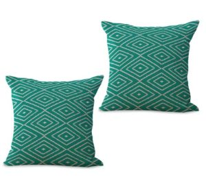 set of 2 geometric modern contemporary cushion cover