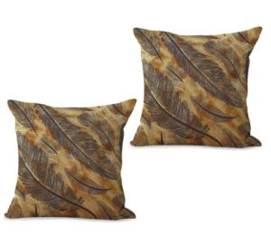 set of 2 feather cushion cover