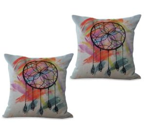 set of 2 American native dreamcatcher cushion cover