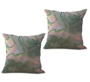 set of 2 marble cushion cover