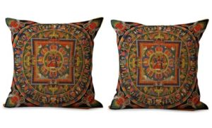 set of 2 Buddhism Tibet mandala cushion cover