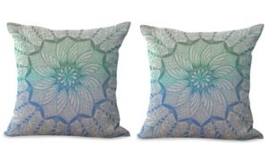 set of 2 mandala cushion cover ethnic decoration