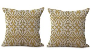 set of 2 geometric cushion cover