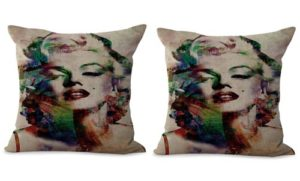 set of 2 Marilyn Monroe sexy icon cushion cover