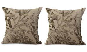 set of 2 sealife marine nautical cushion cover