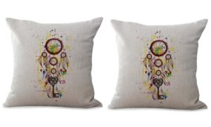 set of 2 American Indian dream catcher cushion cover