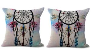 set of 2 native American dreamcatcher cushion cover