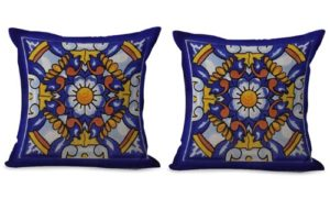 set of 2 decorative Spanish Mexican cushion cover