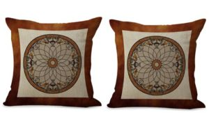 set of 2 medallion mandala yoga meditation cushion cover