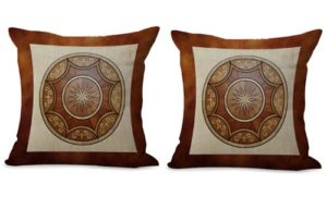 set of 2 medallion mandala yoga meditation cushion cover