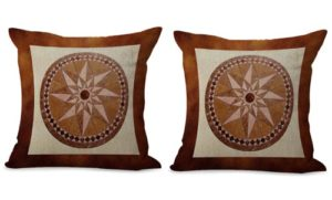 set of 2 medallion mandala unity harmony cushion cover