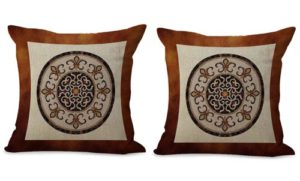 set of 2 mandala universe symbol cushion cover