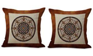 set of 2 mandala universe symbol cushion cover