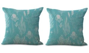 set of 2 Sea travel beach life cushion cover