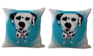 set of 2 pet animal dog cushion cover