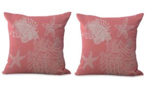 set of 2 fish seagrass star fish cushion cover